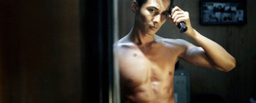Won Bin goes all Taxi Driver in The Man From Nowhere.  Screencap via Center for Asian American Media (caam.gala-engine.com)