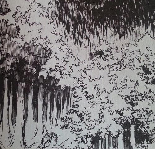 Detail from Lone Wolf & Cub by Goseki Kojima.