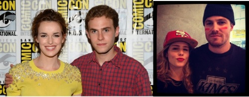 Cast chemistry, both on screen and off, is so important to the long term success of a TV show.  One of these women is thinking 'please stop touching my arm.'  One of them is thinking 'What up sluts, I'm going to bone Stephen Amell tonight and you're not so have f writing fanfic about us and then crying into your pillow, kthxbye'