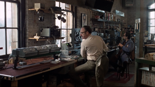 Gene Hackman as Harry Caul and John Cazale as Stanley