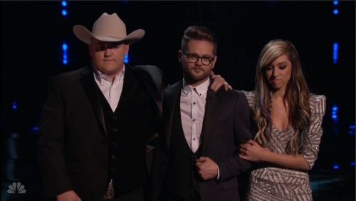 Jake Worthington, Josh Kaufman, and Christina Grimmie await their fate on the season six finale of The Voice.
