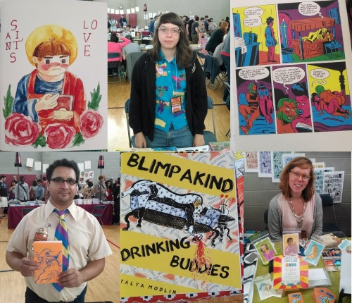 Top Row: Saint's Love by Krystal DiFronzo, Ines Estrada, Needle Dick by Anya Davidson.  Bottom Row: Chris Cilla, Blimpakind by Tanya Modlin, Lucy Knisley